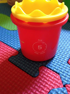 number 5 on Discovery Toys Measure Up Cup
