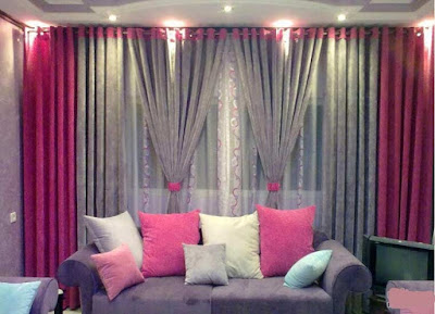 The best types of curtains and curtain design styles 2019, pink curtain design