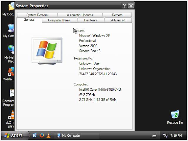 Download Windows XP Professional SP3 x86 Update June 2018