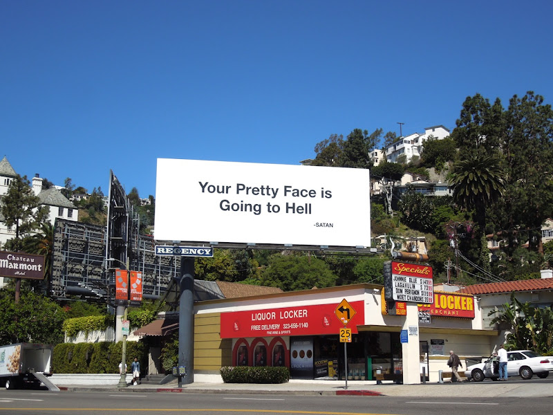 Your Pretty Face Going Hell billboard