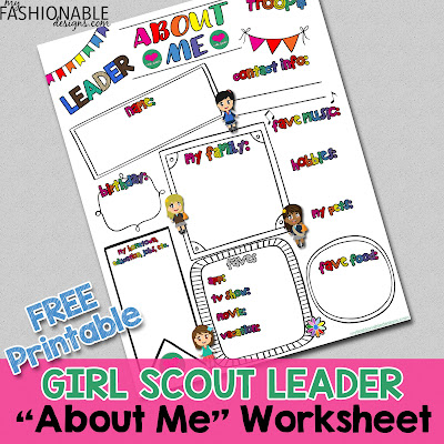 My Fashionable Designs Free Printable Girl Scout Leader About Me