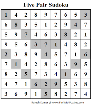 Five Pair Sudoku (Daily Sudoku League #115) Solution