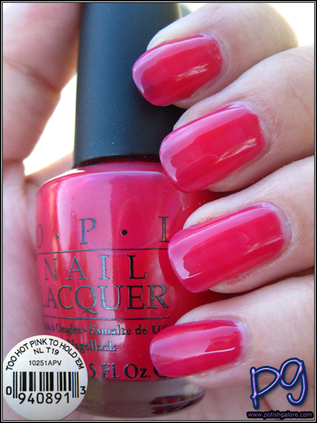 Opi Too Hot Pink To Hold Em Polish Galore