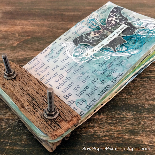 SewPaperPaint: Weathered Wood Book Binding For PaperArtsy