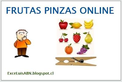 Frutas pinzas online.