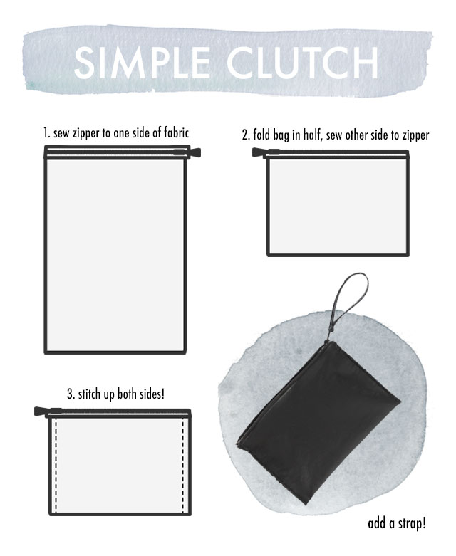 DIY it! How to make a convenient clutch