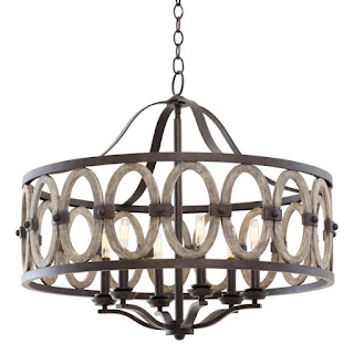 Belmont Collection - 6-Light Pendant in Florence Gold. (Kalco - 500521)
