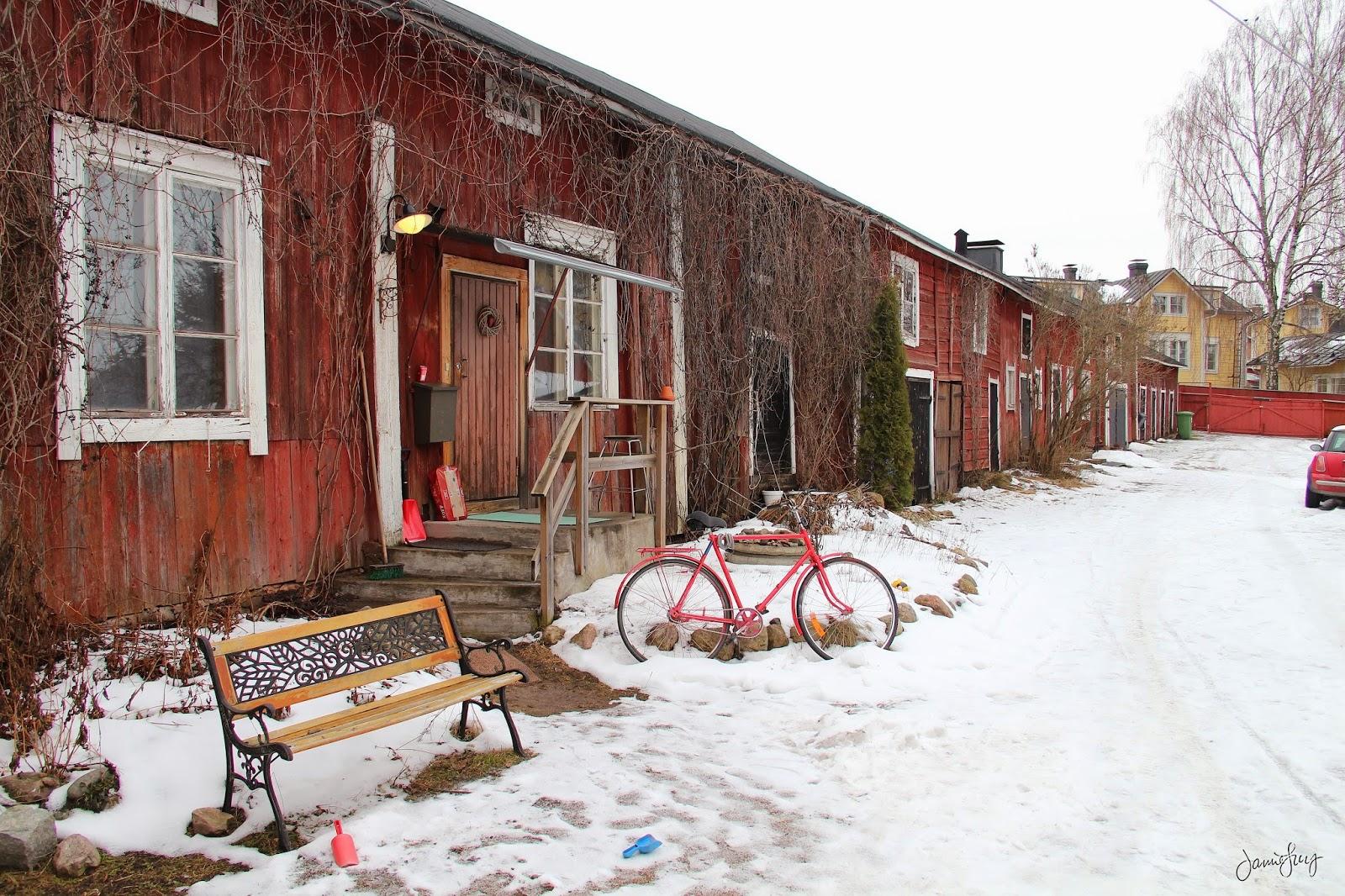 Winter Backyard in Porvoo, Finland