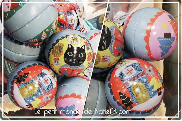 Boules de Noël de Mazet confiseur  Yumi Kitagishi