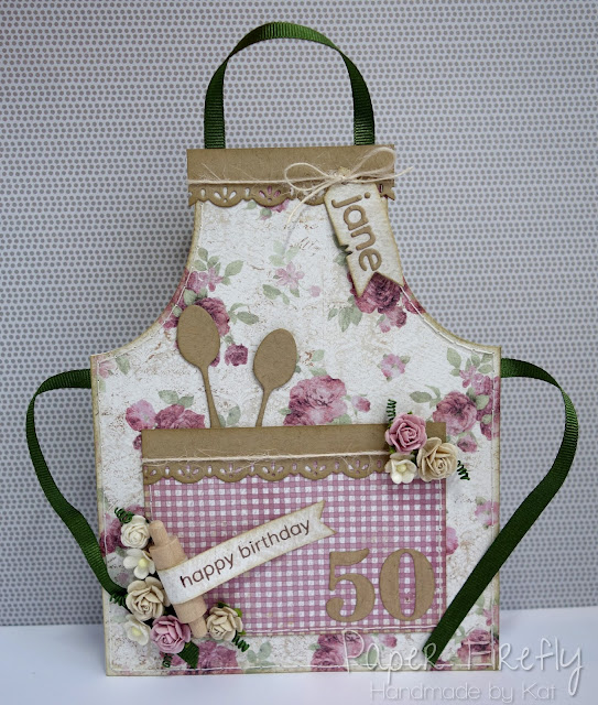 Baking themed apron card