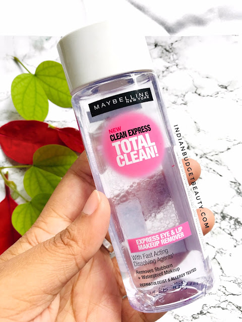Maybelline Clean Express Total Clean Make Up Remover Review