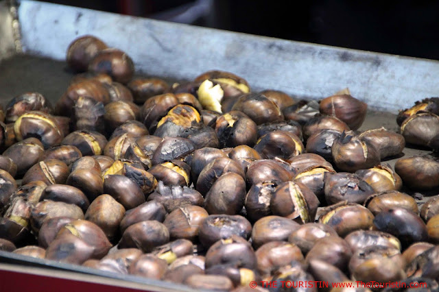 Christmas Market Gerhart-Hauptmann-Platz Hamburg Germany roasted chestnuts