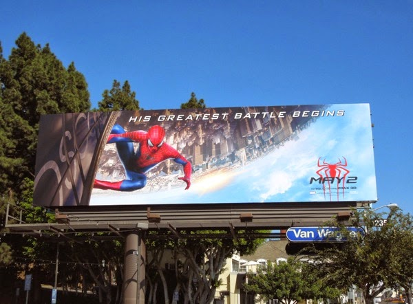 Amazing Spider-man 2 movie teaser billboard