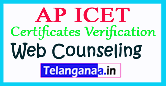 AP ICET Counseling 2018 ICET Certificate Verification Schedule
