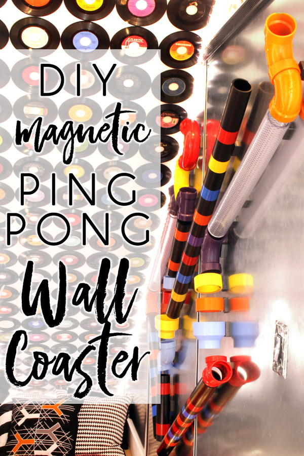 Call it what you want... a magnetic ping pong ball wall coaster, a wall maze, a ball run, or a tinker track... we call it hours of fun and learning!