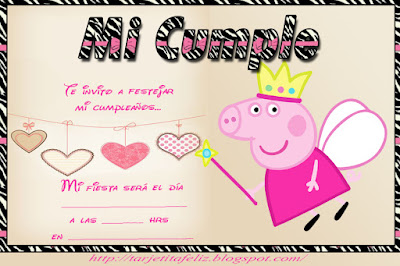 Tarjetas De Cumpleaños Para Imprimir Invitación De Peppa Pig