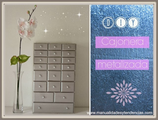 DIY Mueble restaurado con efecto metalizado / Metallic effect furniture / Meuble à effet métallisé