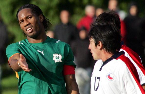 Chile y Costa de Marfil en partido amistoso, 30 de mayo de 2006