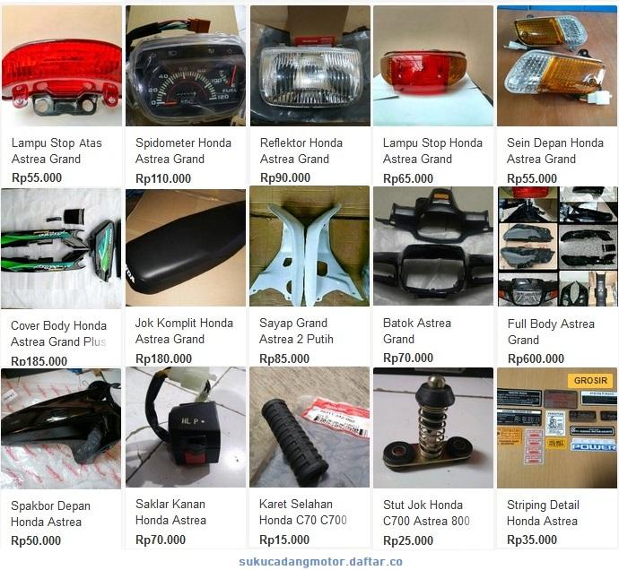 Katalog Suku Cadang Body Honda Astrea Grand Impressa Legenda