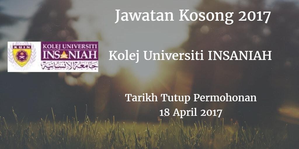 Jawatan Kosong KUIN 18 April 2017