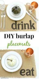 DIY burlap placemats for any holiday