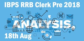 Questions Asked in IBPS RRB Clerk Prelims 2018: 18th August, 4th Slot