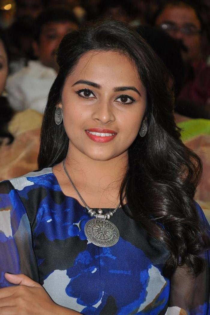 Sri Divya In Blue Dress At Movie Audio Launch