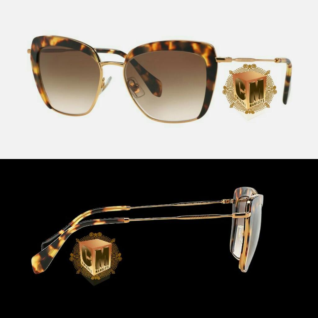 cfff10933803 New Original Sunglasses Miu Miu MU 52QS TWJ3E2 Women Round Gradient Miu Miu  redefines elegance for women that want something different from fashion.