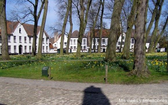 Begihnhof o Convento de las Beguinas, Brujas, Bélgica