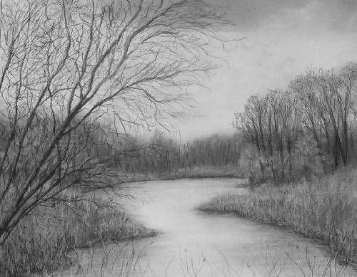 مدونة أرسم بالرصاص تعلم الرسم 20 لوحة لرسومات مناظر طبيعية خلابة