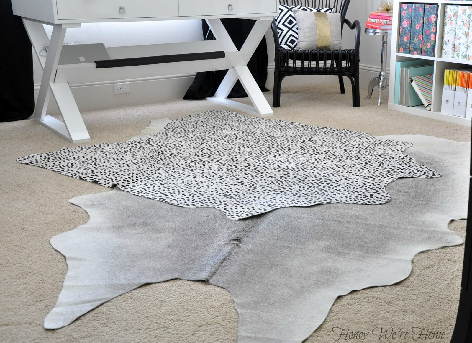 Layered Cowhide Rugs Honey We Re Home