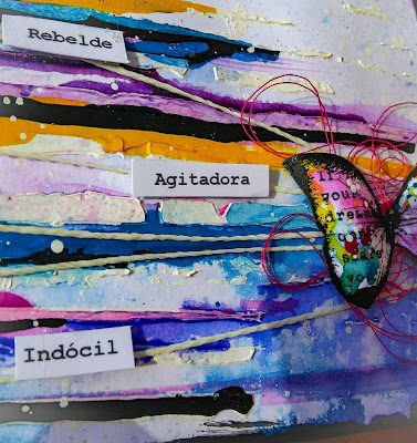 Art journal - butterfly - mariposa arte - acrilicos -rebelde - insurrecta