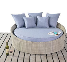 RURAL RATTAN GARDEN FURNITURE SMALL DAYBED