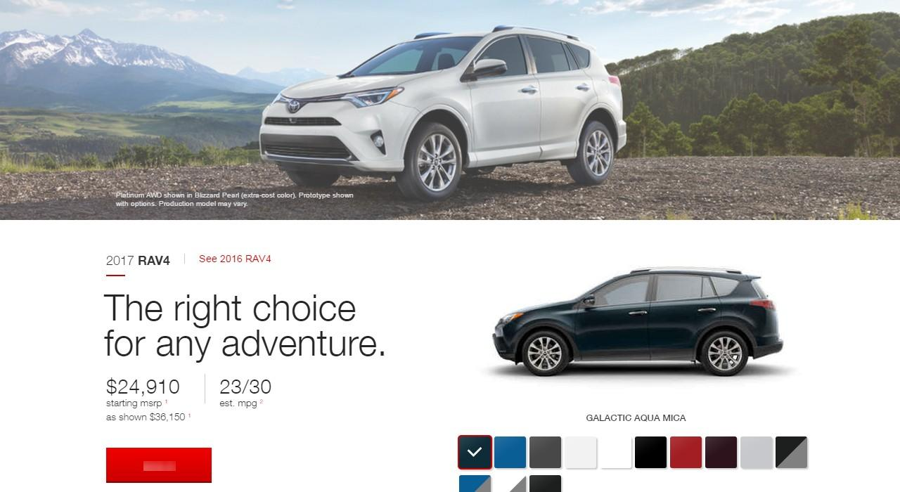 2017 Toyota Rav4 Price Mpg Colors