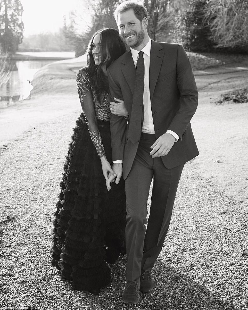 Meghan Markle and Prince Harry release intimate engagement photos