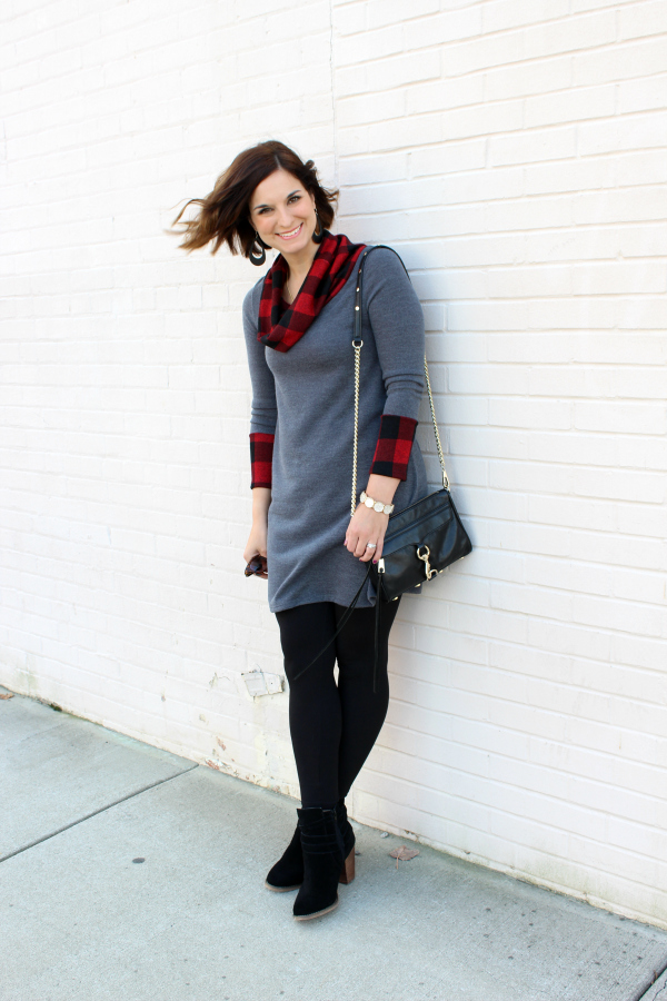 shop small, buffalo plaid, holiday style, what to wear to a christmas party