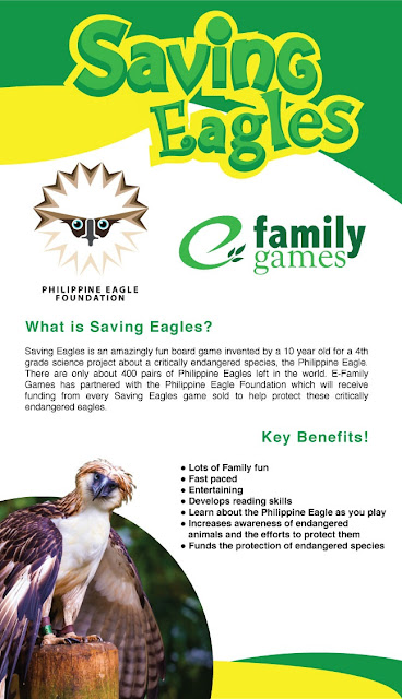 Saving Eagles Board Game aims to save eagles.
