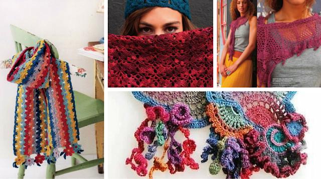 40 Bufandas a Crochet - Patrones para Descargar