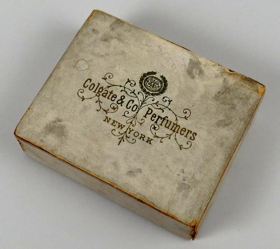 Colgate Dental Powder box 1897 - top