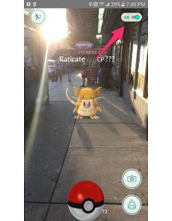 pokemon go game screen