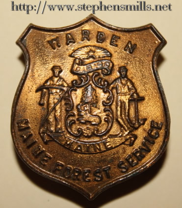 Walter Scott Emmons - Fire Warden  Badge