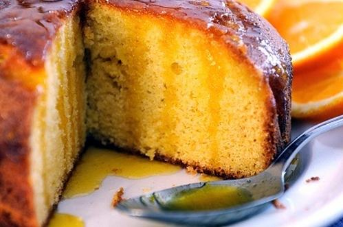 Torta de naranja humeda