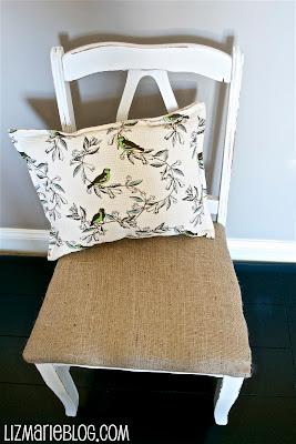 , Shabby Burlap Chair…