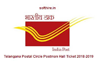 Telangana Postal Circle Postman Hall Ticket