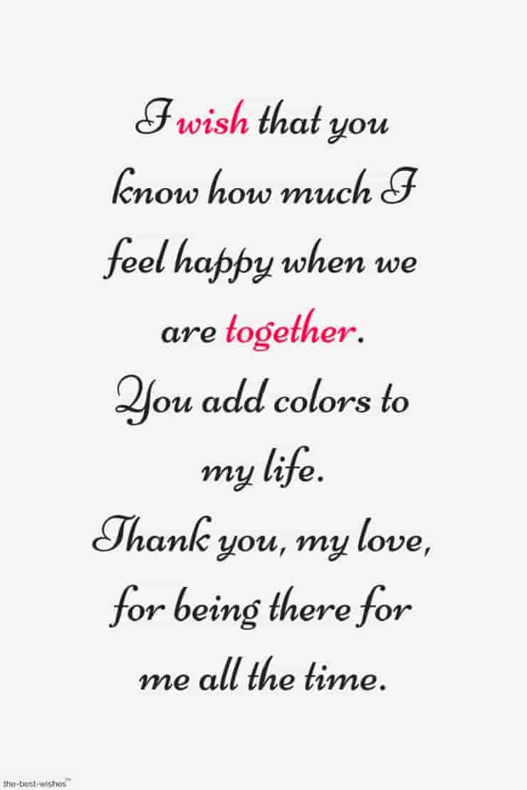 thank you quote for boyfriend