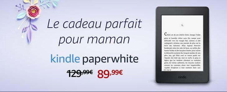 promocja na Kindle Paperwhite 3 z okazji Dnia Matki we francuskim Amazonie