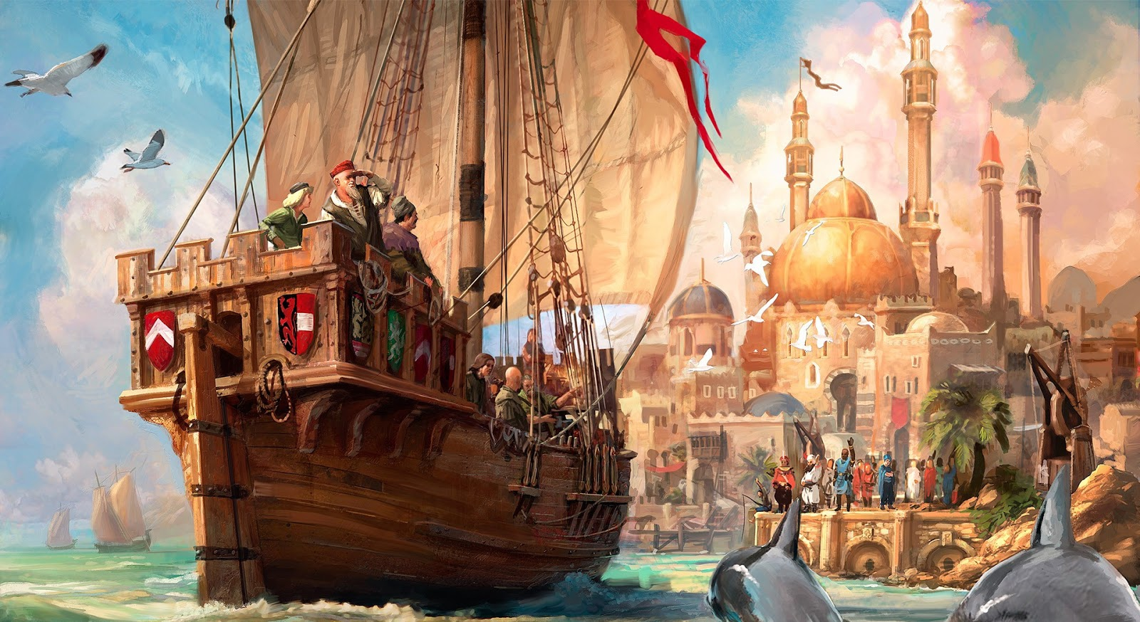Top 25 Samsung Galaxy S4 Screen Saver Wallpapers: 3D Pirates Ship - HD Wallpapers