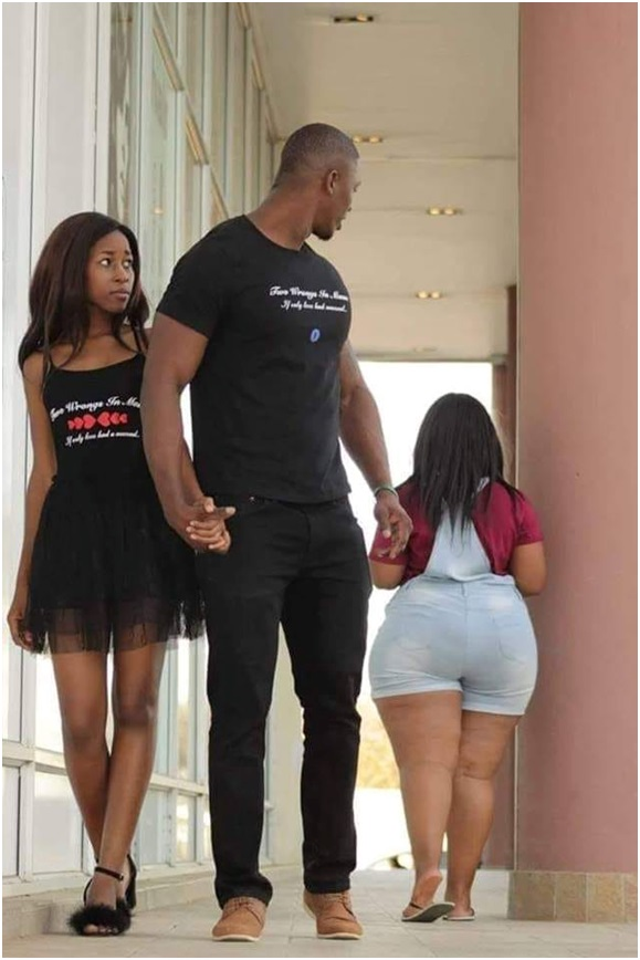 [BangHitz] This shameless guy was salivating on LADY's big derriere in the presence of his girlfriend - MADNESS!