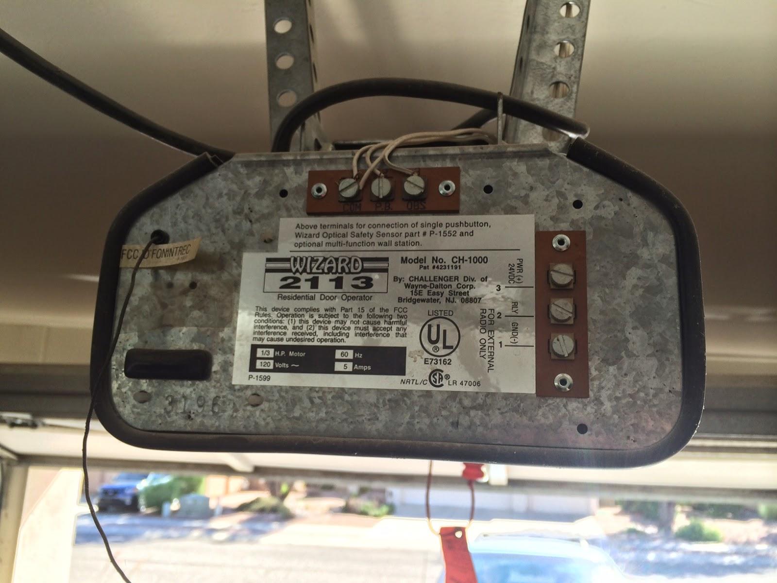 Wiring Garage Door Opener