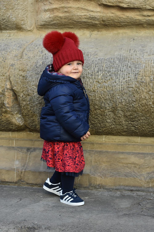 cappello bambina doppio pon pon